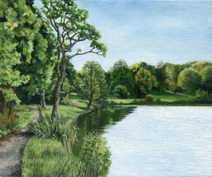 Painting of Yarrow Valley Country Park