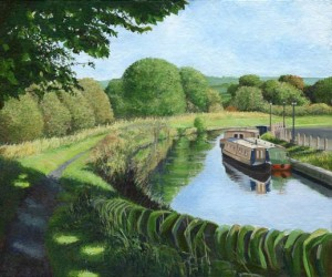 Painting of Leeds & Liverpool canal
