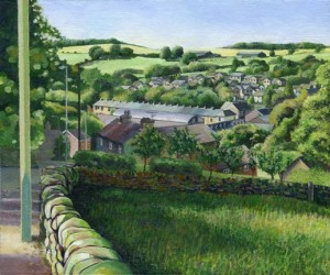 Painting of Norcross Brow, Withnell